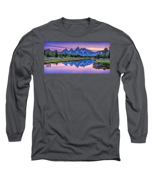 Sunset Teton Reflection Long Sleeve T-Shirt