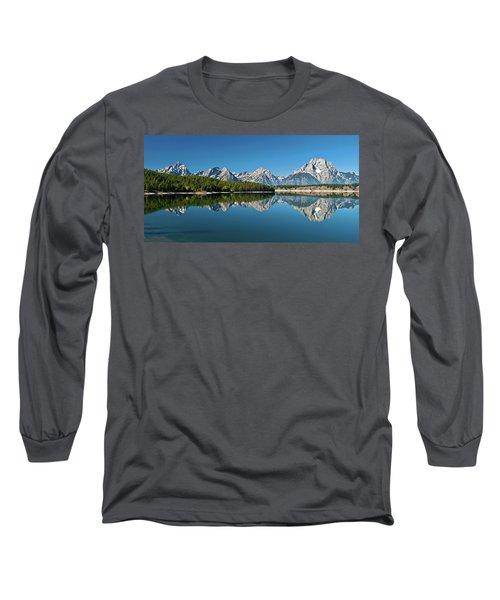 Long Sleeve T-Shirt featuring the photograph Teton Reflections II by Gary Lengyel