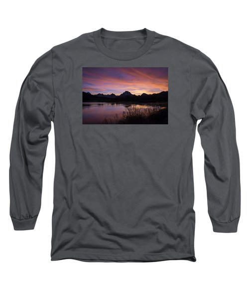 Long Sleeve T-Shirt featuring the photograph Teton Sunset by Gary Lengyel