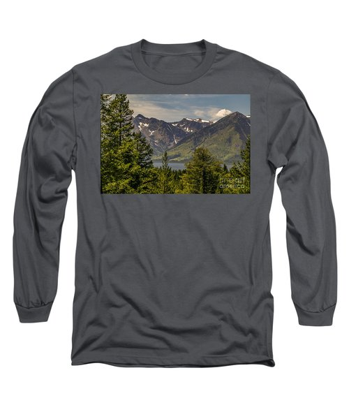 Long Sleeve T-Shirt featuring the photograph Tetons Landscape by Sue Smith