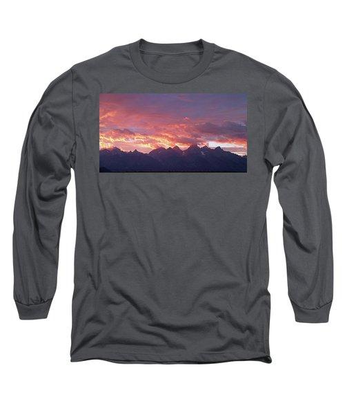 Tetons Sunset Long Sleeve T-Shirt