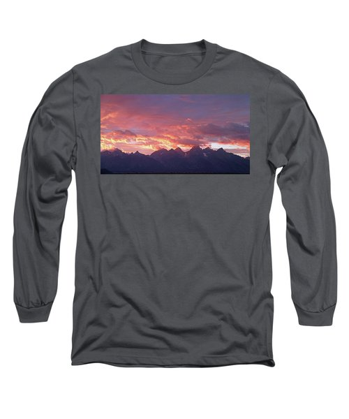 Tetons Sunset Long Sleeve T-Shirt