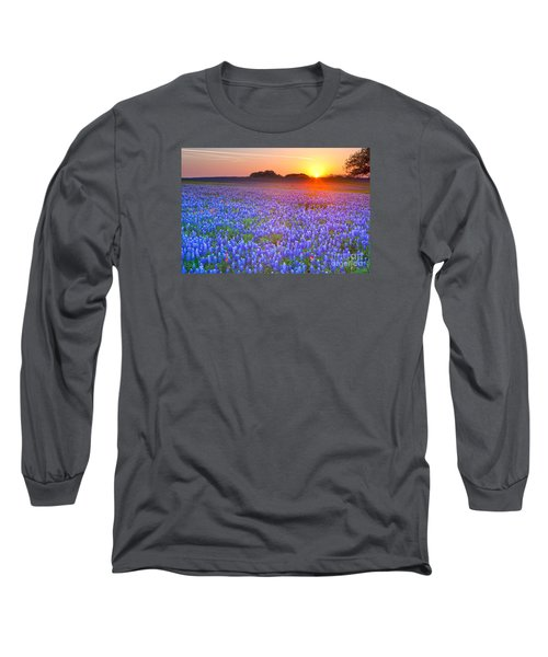 Long Sleeve T-Shirt featuring the photograph Texas Bluebonnets by Keith Kapple