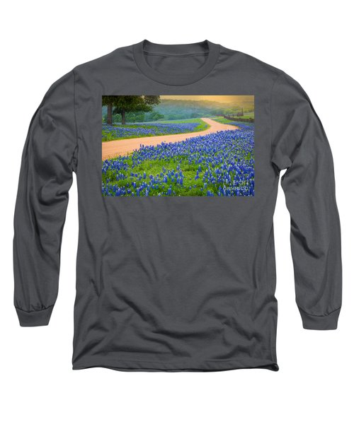 Texas Country Road Long Sleeve T-Shirt