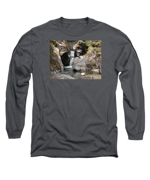Texas Falls In Vermont Long Sleeve T-Shirt