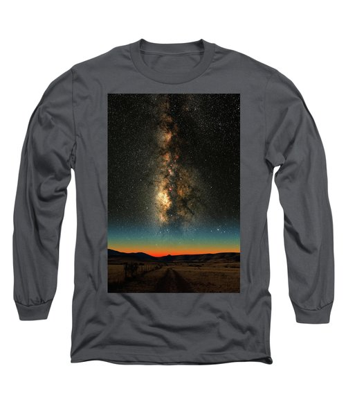 Long Sleeve T-Shirt featuring the photograph Texas Milky Way by Larry Landolfi