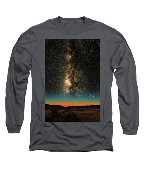 Texas Milky Way Long Sleeve T-Shirt
