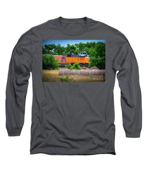 Texas Train Long Sleeve T-Shirt by Kelly Wade