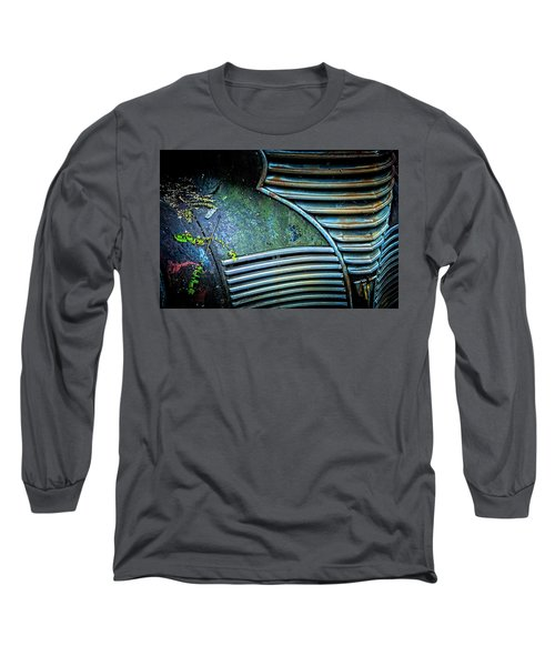 Textured Grille Long Sleeve T-Shirt