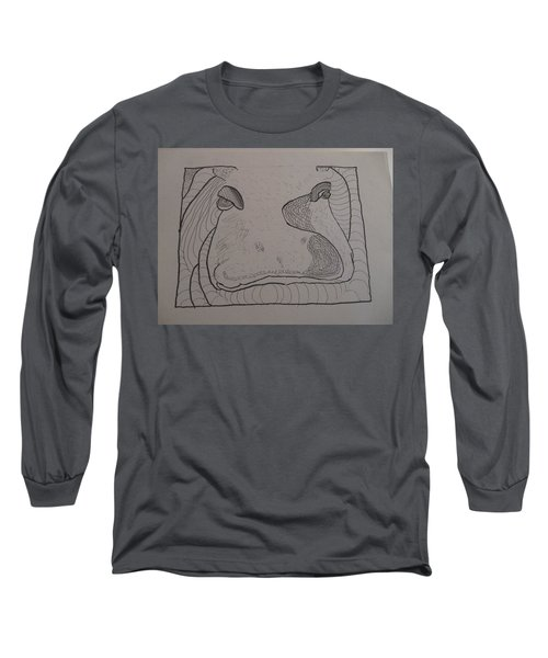 Textured Hippo Long Sleeve T-Shirt