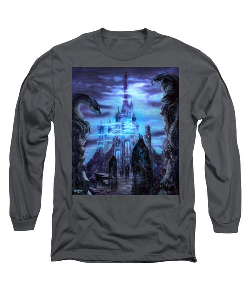 Long Sleeve T-Shirt featuring the mixed media Thangorodrim by Curtiss Shaffer