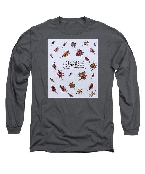 Thankful Long Sleeve T-Shirt by Elizabeth Robinette Tyndall