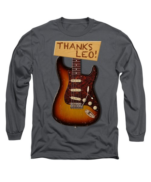 Thanks Leo Strat Shirt Long Sleeve T-Shirt by WB Johnston