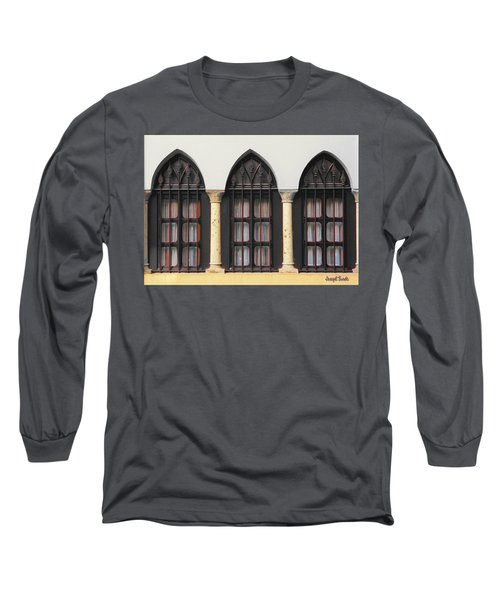 The 3 Windows Long Sleeve T-Shirt by Digital Oil