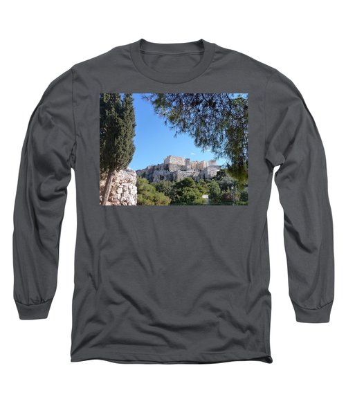 Long Sleeve T-Shirt featuring the photograph The Acropolis by Constance DRESCHER