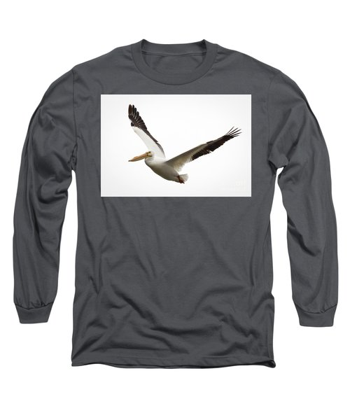 Long Sleeve T-Shirt featuring the photograph The Amazing American White Pelican by Ricky L Jones