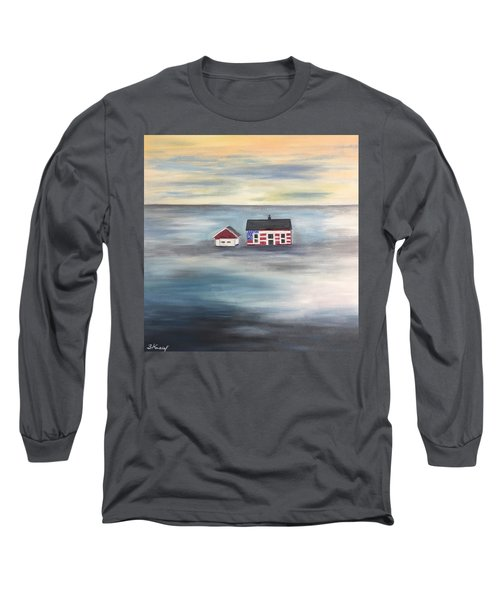 The American Dream And Climate Change Long Sleeve T-Shirt by Barbara Anna Knauf