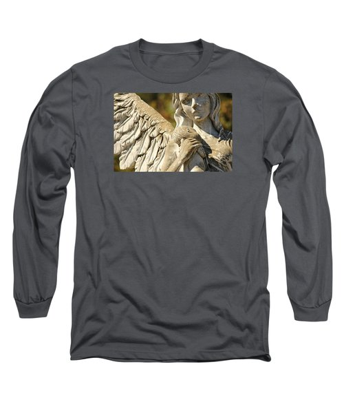 The Angel At St. Thomas Long Sleeve T-Shirt by Lynn Jordan