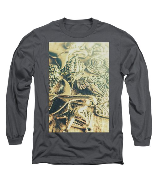 The Aquatic Abstraction Long Sleeve T-Shirt