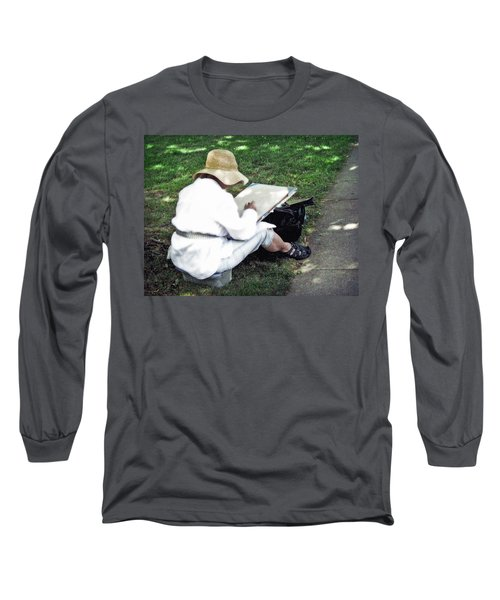Long Sleeve T-Shirt featuring the photograph The Artist by Keith Armstrong