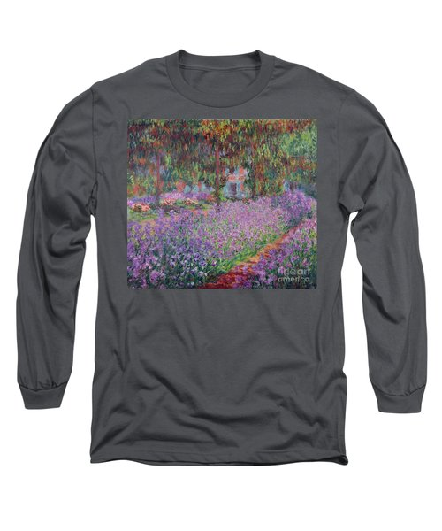 The Artists Garden At Giverny Long Sleeve T-Shirt