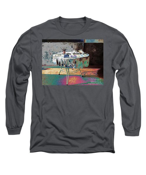 The Artists Table Long Sleeve T-Shirt by Don Pedro De Gracia
