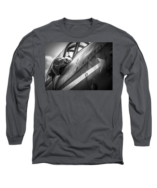 The Aviator - Bw Series Long Sleeve T-Shirt