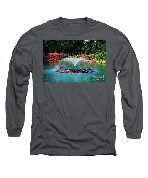 The Azalea Pond At Honor Heights Park Long Sleeve T-Shirt