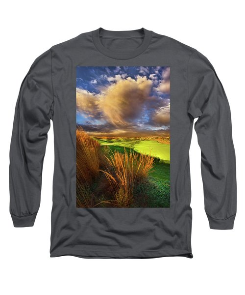 Long Sleeve T-Shirt featuring the photograph The Back Nine by Phil Koch