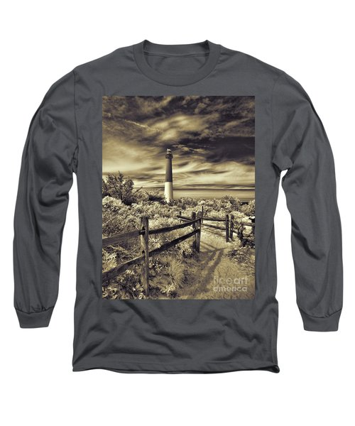 The Barnegat Lighthouse New Jersey Long Sleeve T-Shirt