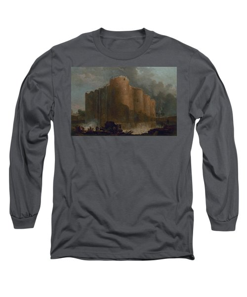 The Bastille In The First Days Of Its Demolition Long Sleeve T-Shirt