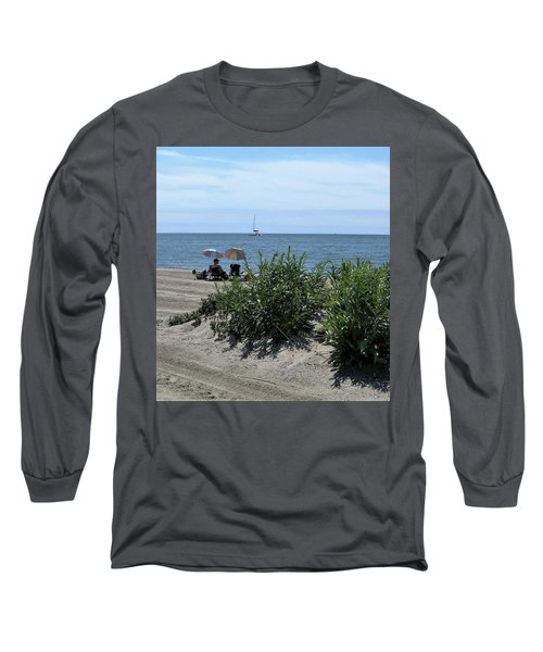 The Beach Long Sleeve T-Shirt by John Scates