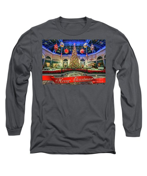 The Bellagio Conservatory Christmas Tree Card 5 By 7 Long Sleeve T-Shirt