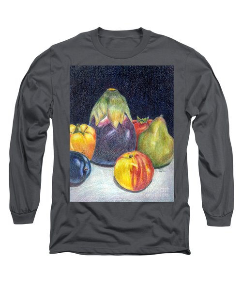 Long Sleeve T-Shirt featuring the drawing The Best Of Summer by Terry Taylor