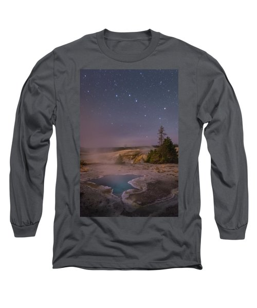 The Big Dipper In Yellowstone National Park Long Sleeve T-Shirt