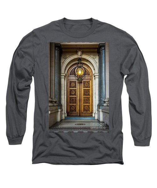Long Sleeve T-Shirt featuring the photograph The Big Doors by Perry Webster