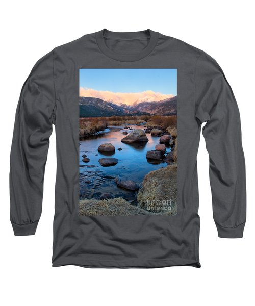 The Big Thompson River Flows Through Rocky Mountain National Par Long Sleeve T-Shirt by Ronda Kimbrow
