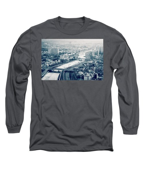 The Bisection Of Saigon Long Sleeve T-Shirt by Joseph Westrupp