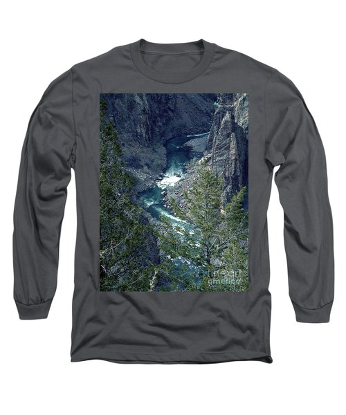 Long Sleeve T-Shirt featuring the painting The Black Canyon Of The Gunnison by RC DeWinter