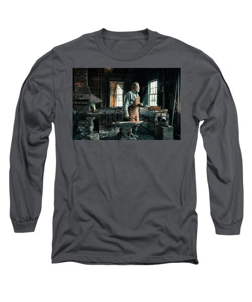 Long Sleeve T-Shirt featuring the photograph The Blacksmith - Smith by Gary Heller