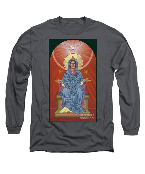 Long Sleeve T-Shirt featuring the painting The Blessed Virgin Mary, Mother Of The Church by William Hart McNichols