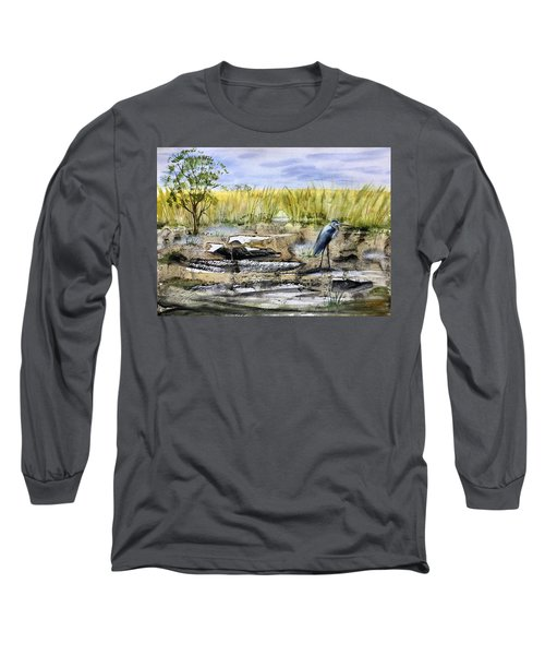 The Blue Egret Long Sleeve T-Shirt