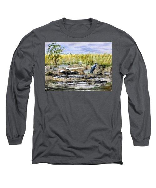 The Blue Egret Long Sleeve T-Shirt