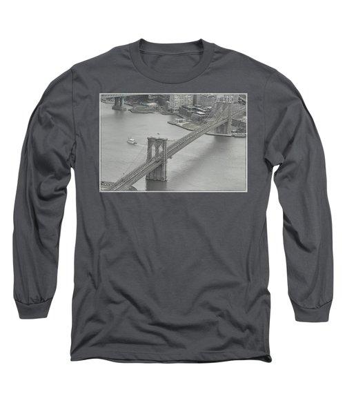 The Brooklyn Bridge From Above Long Sleeve T-Shirt