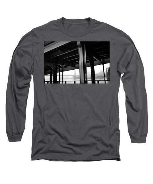 The Brooklyng Bridge And Manhattan Bridge From Fdr Drive Long Sleeve T-Shirt