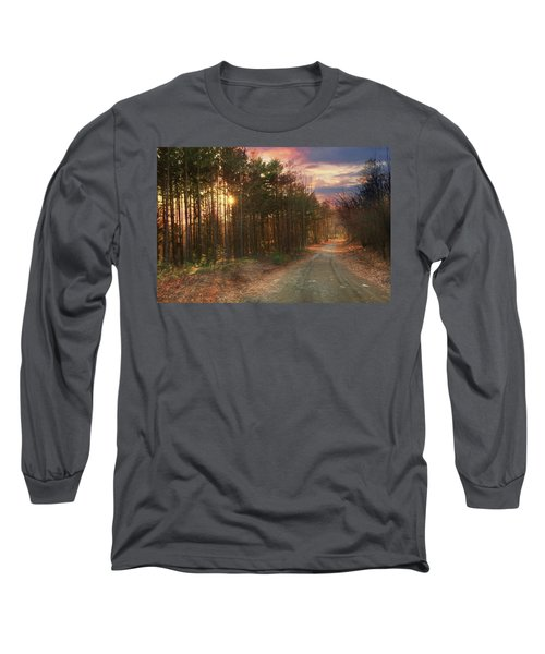 Long Sleeve T-Shirt featuring the photograph The Brown Path Before Me by Lori Deiter