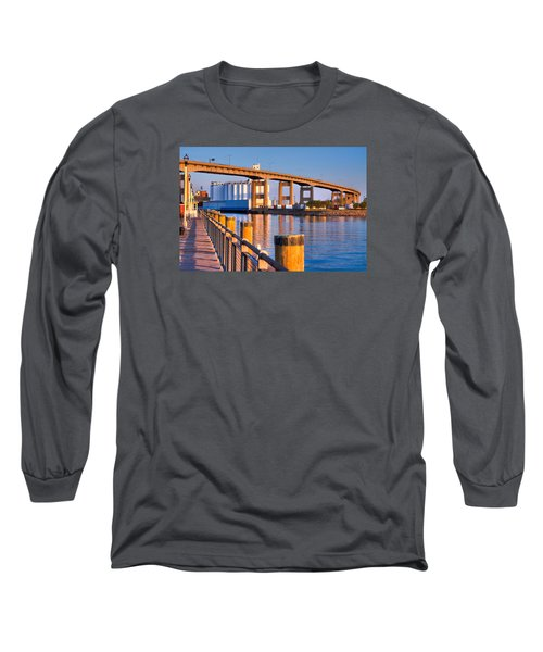 Long Sleeve T-Shirt featuring the photograph The Buffalo Skyway by Don Nieman