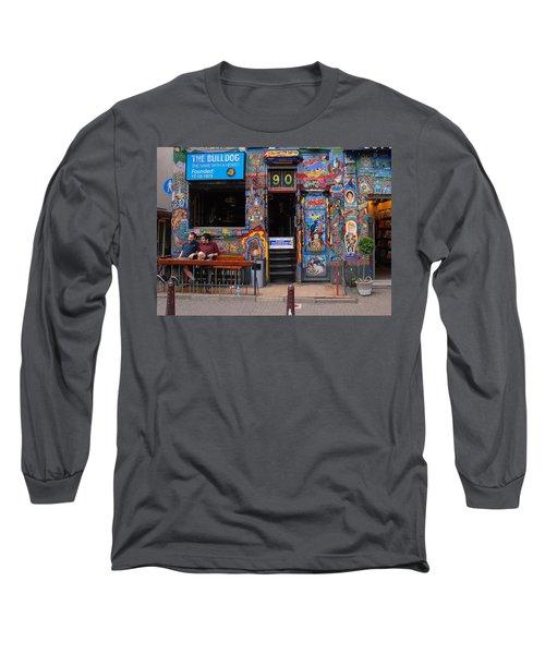 The Bulldog Of Amsterdam Long Sleeve T-Shirt by Allen Beatty