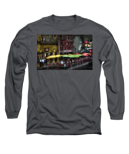 The Cafe At Night Long Sleeve T-Shirt