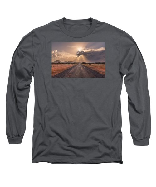 The Calm Before The Storm Long Sleeve T-Shirt by Racheal  Christian